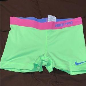 Women's Nike Pro shorts.